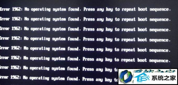 win8系统电脑开机提示Error 1962:no operating的解决方法